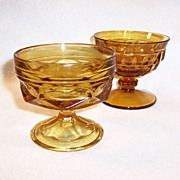Vintage Amber Glass Sherbets (You Choose)