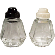 SOLD Eight Paneled Vintage Glass Shakers France