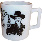 1950's Black Hopalong Cassidy Milk Mug
