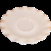 Hazel Atlas White Crinoline Saucer