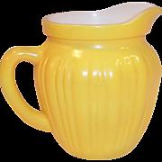 Hazel Atlas Gay Rainbow Yellow Milk Pitcher