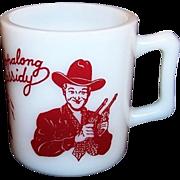 1950's Red Hopalong Cassidy Milk Mug
