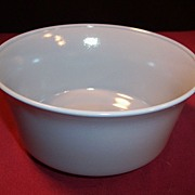 "Hazel Atlas Moderntone Sierra 5"" Flared Gray Bowl"
