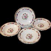 SET of FOUR: 1940's Homer Laughlin Bristol Soup Bowls