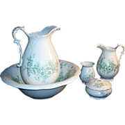 SOLD Antique Homer Laughlin Bridal Bowl Pitcher Bath Set