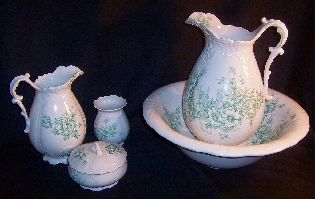 Antique Homer Laughlin Bridal Bowl Pitcher Bath Set from ...