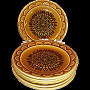 SET OF 6: 1960's Granada Coventry Castilian Harvest Gold Dessert Plates