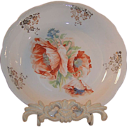 Antique Serving Bowl Poppies