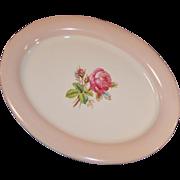 Homer Laughlin Swing Moss Rose Oval Serving Platter