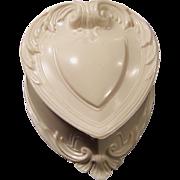 SOLD Vintage Heart Shaped Ring Keepsake Box