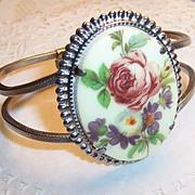Rose Bouquet Clamper Bracelet