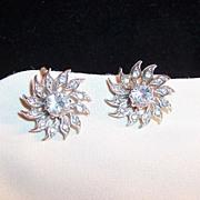 Sparkling Clear Rhinestone Earrings