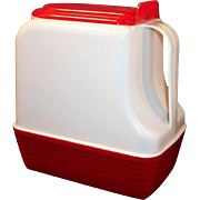 Vintage 1950's Red and White Lustro-Ware 2 Quart Pitcher