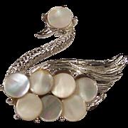Vintage Coro Graceful Swan Brooch