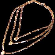 Monet Triple Chain Segmented Necklace