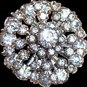 Vintage Sparkling Crystal Clear Rhinestone  Brooch