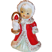 Lefton Japan Christmas Angel Bell with Candle