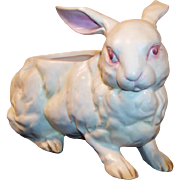 Lefton White Bunny Rabbit Candy or Planter