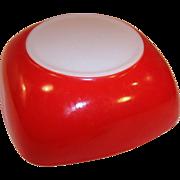 Large 2 1/2 Quart Red Square Pyrex Bowl 525B