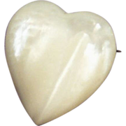 REDUCED Iridescent Mother Of Pearl  Heart Pin
