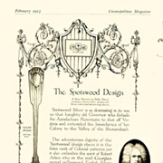 SALE 1913: Cosmopolitan Magazine AD: Gorham Silver Spotswood Design