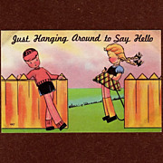 SALE Unused Vintage Comic Colourpicture Postcard