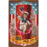 1912 Antique  Fourth of July Postcard