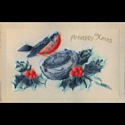Antique Samson Brothers Puffy Christmas Postcard