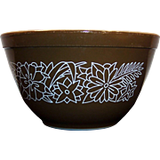 No. 401 Vintage PYREX Woodland Dark Brown 1 1/2 pt Mixing Bowl