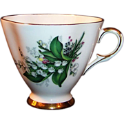 "Vintage Royal Victoria Fine Bone China Tea Cup ""Lilies of the Valley"""