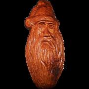 Large Vintage Hand Carved Santa