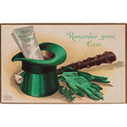 """Remember Green, Erin""  St. Patrick's Day Clapsaddle Unused Postcard"