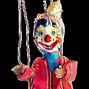 Vintage Clown Marionette Puppet