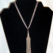 SALE Vintage Tassel Dangle Necklace