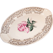 1950's Taylor Smith Taylor Rhythm Rose Platter