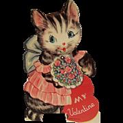 SOLD Vintage Mechanical Kitty Cat Valentine