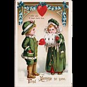 C. 1910 Signed Sweet Ellen Clapsaddle Valentine Postcard