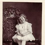 Antique Victorian Studio Portrait Photograph ~ Smiling Catherine