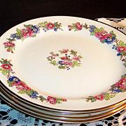 1940's  Laughlin  Bristol  Salad Plates (SET of 4 )
