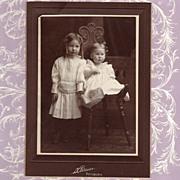 Antique Victorian Photograph of Children