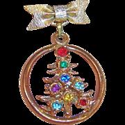 Vintage Christmas Tree Pin