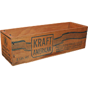 Excellent Vintage Kraft American Cheese Box