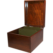 """SOLD Large Wooden File Box (8"""" x 5"""" Cards Fit in this Box"""