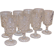 """Set of 8:  Crystal Clear Wexford Water Goblets  (6 5/8"""" tall)"""