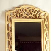 Large Framed Wall Mirror ~ Open Scrolling Designed Frame