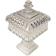 Westmoreland Clear Wedding Bowl Candy Box and Lid