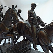 SALE Jockeys Horse Race Bronze Sculpture After Isidore Jule Bonhurn