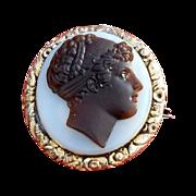 SALE James Tassie Cameo Brooch Locket  in  Gold Ormolu  Settings cir.1769