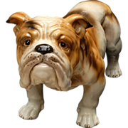 REDUCED Rare Crown Staffordshire Hand Painted Bulldog Figurine