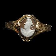 SALE Antique Golden Cameo Bracelet